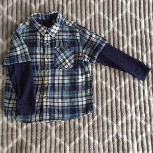 Little Boys Plaid Button Down Shirt